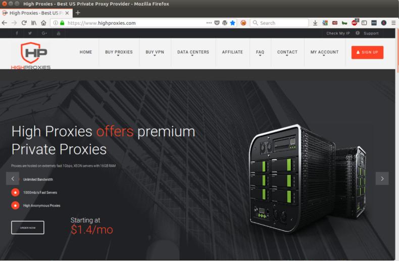 High Proxies : notre avis sur ce fournisseur de proxy privé